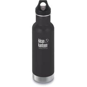 Klean Kanteen Classic Vacuum Insulated Bidon Loop Cap 592ml, shale black matt